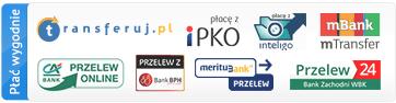 Płać wygodnie online przez Transferuj.pl